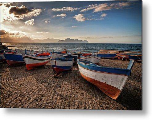Sicily Metal Print featuring the photograph Aspra Boatyard by Fabio Montalto