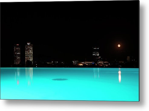 Barcelona Metal Print featuring the photograph Barcelona By Night by Andrea Gabrieli