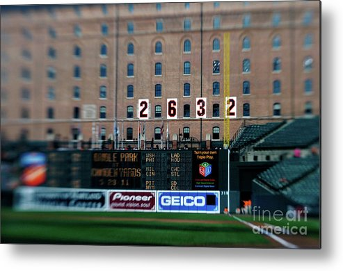 Hanging Metal Print featuring the photograph Baseball - Cal Ripken Hall Of Fame by Icon Sports Wire