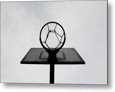 Outdoors Metal Print featuring the photograph Basketball Hoop by Christoph Hetzmannseder