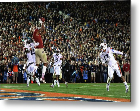 Rose Bowl Stadium Metal Print featuring the photograph Bcs National Championship - Florida by Harry How