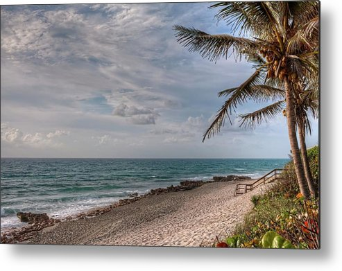 Florida Metal Print featuring the photograph Beach Day by Steve DaPonte