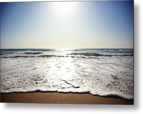 Tranquility Metal Print featuring the photograph Beach In California On Pacific Ocean by Thomas Northcut
