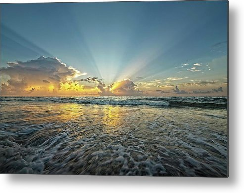 Sea Metal Print featuring the photograph Beams of Morning Light 2 by Steve DaPonte