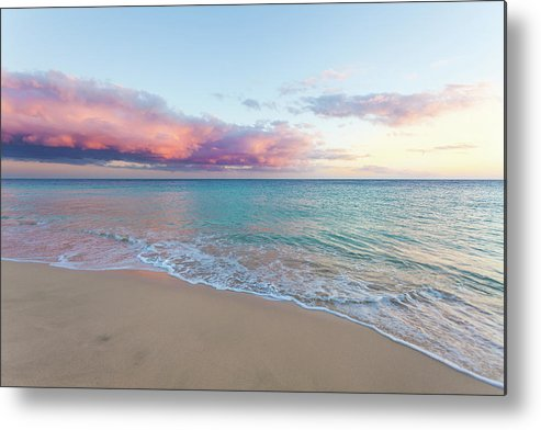 Water's Edge Metal Print featuring the photograph Beautiful Seascape, Beach And Ocean At by Zodebala