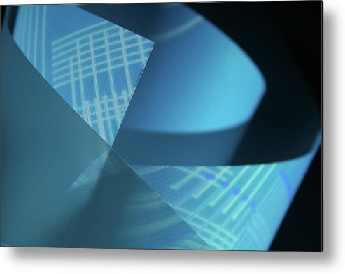 Curve Metal Print featuring the photograph Blueprint by Penfold