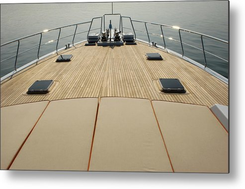Seascape Metal Print featuring the photograph Boat Deck by 1001nights