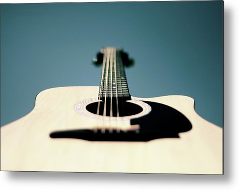 Music Metal Print featuring the photograph Bokeh String by George Bentley Photography
