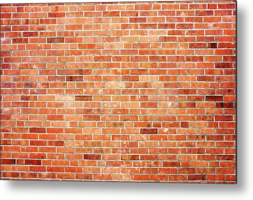 Toughness Metal Print featuring the photograph Brick Wall by Ballyscanlon