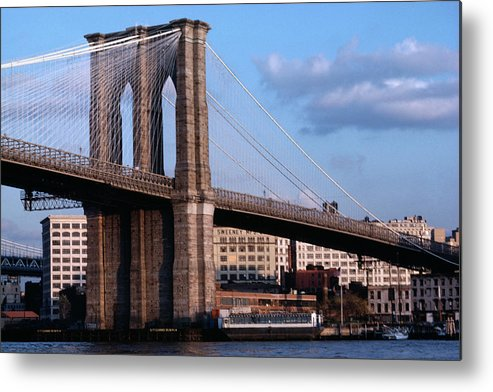 Built Structure Metal Print featuring the photograph Brooklyn Bridge by Dick Luria