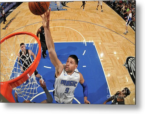 Nba Pro Basketball Metal Print featuring the photograph Brooklyn Nets V Orlando Magic by Fernando Medina