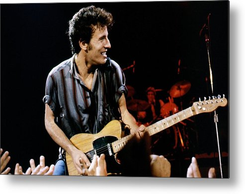 Bruce Springsteen Metal Print featuring the photograph Bruce Springsteen Live by Larry Hulst
