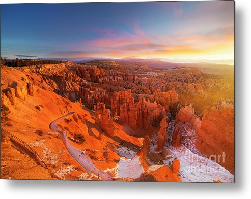 Scenics Metal Print featuring the photograph Bryce Canyon National Park At Sunset by Ankit Saxena