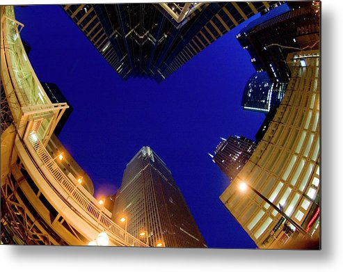 Clear Sky Metal Print featuring the photograph Buildings, Low Angle View by By Ken Ilio