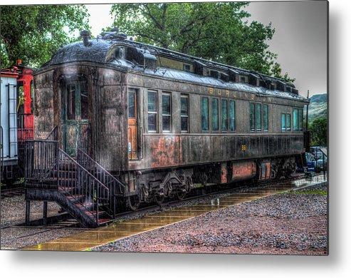 Train Museum Metal Print featuring the photograph Burlington Passenger Car by G Wigler