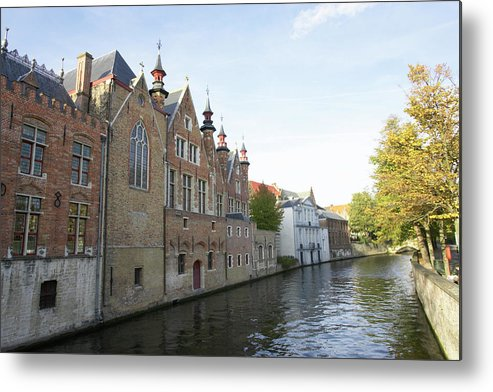 Old Town Metal Print featuring the photograph Canal In The Old Town Of Brugge by Christof Koepsel