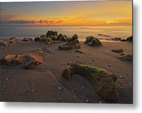Carlin Park Metal Print featuring the photograph Carlin Park Beach Nautical Twilight by Steve DaPonte