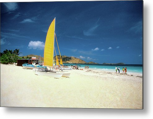 Orient Beach Metal Print featuring the photograph Catamarans And People On Martin Orient by Medioimages/photodisc