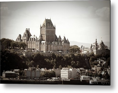 Copper Metal Print featuring the photograph Chateau Frontenac From Levis, Quebec by Onfokus
