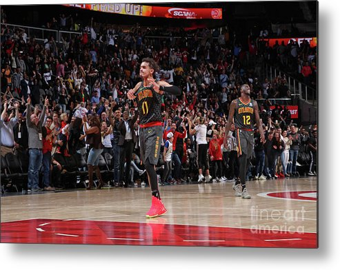 Atlanta Metal Print featuring the photograph Chicago Bulls V Atlanta Hawks by Jasear Thompson