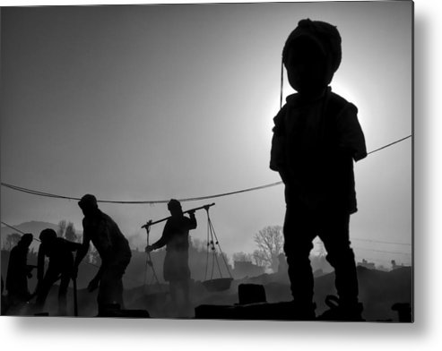 Nepal Metal Print featuring the photograph Child Labour Is Just Not Fair by Yvette Depaepe