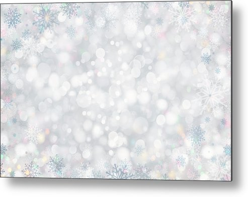 Holiday Metal Print featuring the photograph Christmas Background by Sbayram