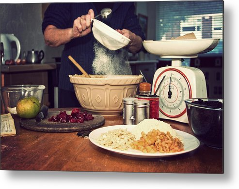 Dublin Metal Print featuring the photograph Christmas Cake Making by Image By Catherine Macbride
