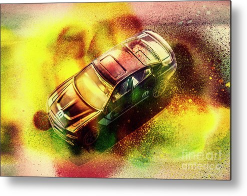 Retro Metal Print featuring the photograph City Charger by Jorgo Photography - Wall Art Gallery