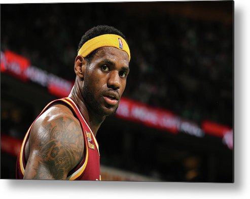 Playoffs Metal Print featuring the photograph Cleveland Cavaliers V Boston Celtics by Nathaniel S. Butler