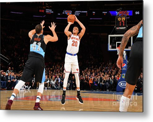 Nba Pro Basketball Metal Print featuring the photograph Cleveland Cavaliers V New York Knicks by Jesse D. Garrabrant