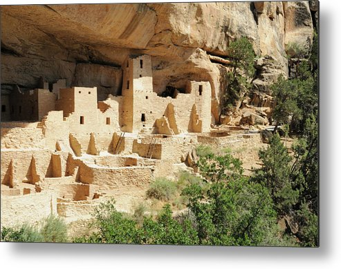 Mesa Verde National Park Metal Print featuring the photograph Cliff Palace In Mesa Verde, Colorado by Sshepard