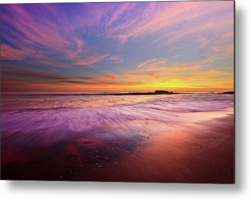 Scenics Metal Print featuring the photograph Color Splash At Sunset, Laguna Beach by Eric Lo