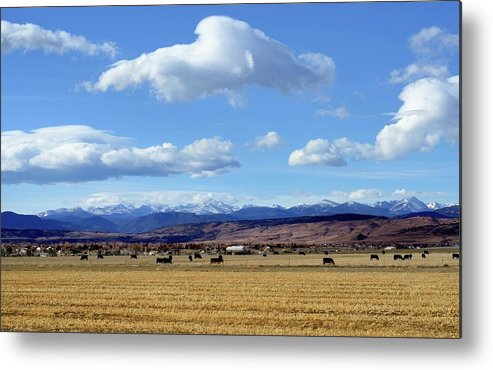 Scenics Metal Print featuring the photograph Colorado Ranch In Rocky Mountains by Rivernorthphotography