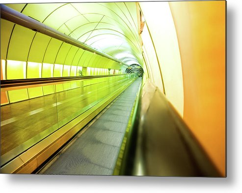 Pedestrian Metal Print featuring the photograph Colourful Walkway by Nikada