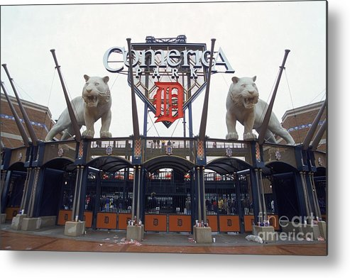 American League Baseball Metal Print featuring the photograph Comerica Park by Harry How
