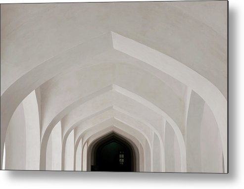 Tranquility Metal Print featuring the photograph Corridor In Amer Fort, Rajasthan, India by Cultura Exclusive/karen Fox