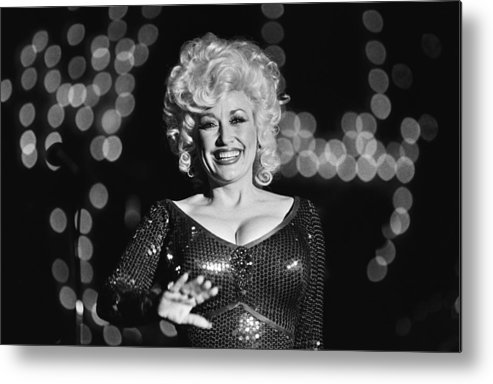 Dolly Parton Metal Print featuring the photograph Country Singer Dolly Parton In Concert by George Rose