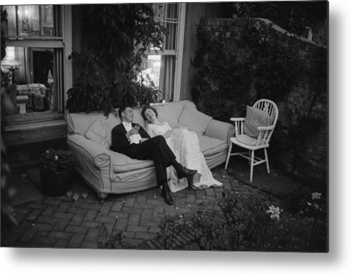 Debutante Metal Print featuring the photograph Couple At Party by Thurston Hopkins
