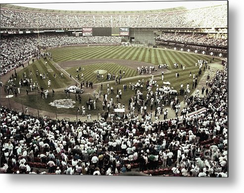 Candlestick Park Metal Print featuring the photograph Crowd At Candlestick Park by Bettmann