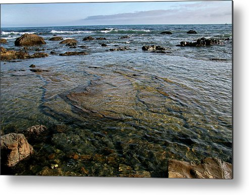 Scenics Metal Print featuring the photograph Crystal Cove State Park by Stephanie Sawyer