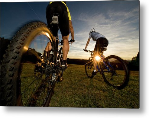 Blurred Motion Metal Print featuring the photograph Cycling Adventure by Gorfer