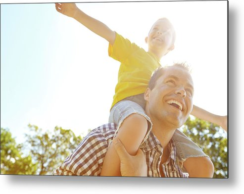 Human Arm Metal Print featuring the photograph Dad Makes Me Feel Like I Can Fly by Gradyreese
