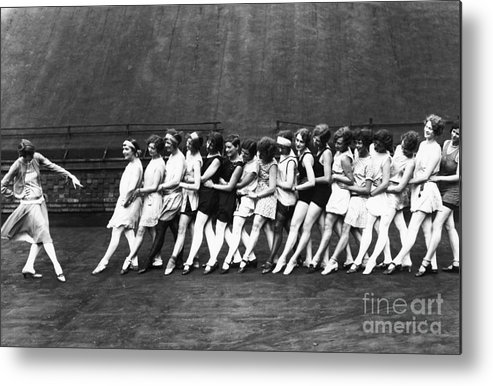 Education Metal Print featuring the photograph Dance Instructors Learn Aeroplane Glide by Bettmann
