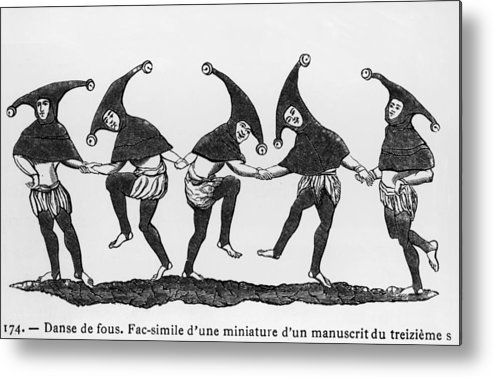 Performance Metal Print featuring the photograph Dance Of The Fools by Hulton Archive