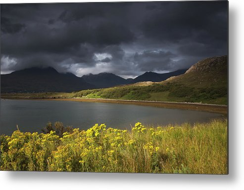 Tranquility Metal Print featuring the photograph Dark Storm Clouds Hang Over The by John Short / Design Pics