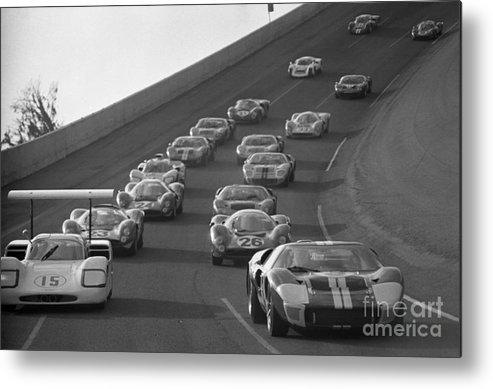 Chaparral Metal Print featuring the photograph Daytona 24 Hour Endurance Auto Race by Bettmann