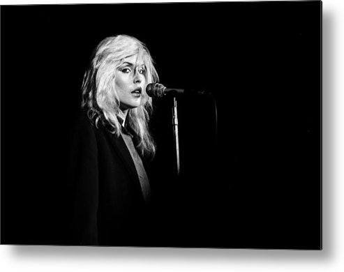 San Francisco Metal Print featuring the photograph Debbie Harry Performs Live by Richard Mccaffrey