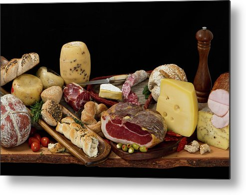 Cheese Metal Print featuring the photograph Delicious Typical Argentinean Antipasto by Ruizluquepaz