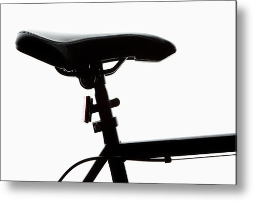 Bicycle Seat Metal Print featuring the photograph Detail Of A Bicycle Seat, Back Lit by Epoxydude