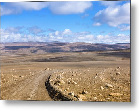 Scenics Metal Print featuring the photograph Dirt Road Sprengisandur Central Iceland by Mlenny